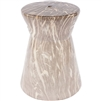 taupe and cream marble-like garden stool
