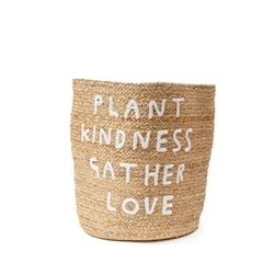 natural jute basket plant kindness gather love applique