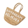 small jute basket white handles daydream believer