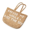 large jute basket white handles excuse me while i kiss the sky