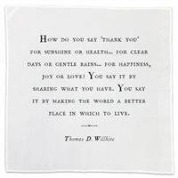 Cotton Gratitude Napkins Set (10) - Cloth Dinner Napkins