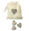 bag tie string off white stenciled heart wood rustic 50