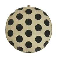 pouf floor pillow cushion black cream polka dots stripes