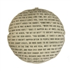 pouf floor pillow cushion black cream stripes The Velveteen Rabbit passage