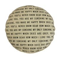 Sugarboo & Co. Floor Pouf - You Are My Sunshine with Dots