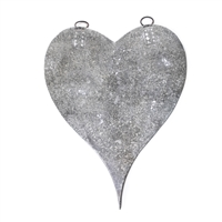 silver metal galvanized heart magnet board magnets