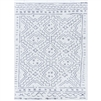 gray white patterned area rug rectangle woven