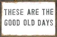 wall art wood grey frame rustic printed good old days rectangle