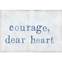 gallery wrap canvas courage dear heart blue white