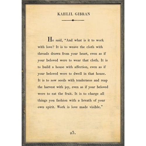 framed wall art kahlil gibran