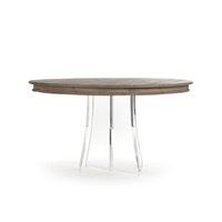 Acrylic Pedestal Dining Table - Callum