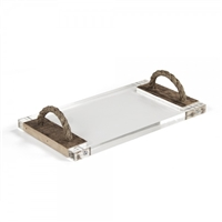 Zentique serving cheese board tray acrylic reclaimed wood rope handles transitional