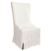 Padma's PlantationAtlantic Beach Wing Dining Chair Sunbleached White Slipcover