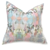 accent toss occasional pillow polyester feather down insert colorful aqua pink peach gray abstract