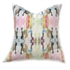 accent toss occasional pillow polyester feather down insert colorful pink yellow aqua abstract