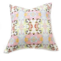 accent toss occasional pillow polyester feather down insert colorful pink yellow light blue white abstract