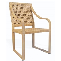 all weather wicker natural armchair organic