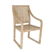 chair seat arm rattan woven natural outdoor