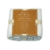 "baby blanket off-white cream soft polyester inspirational message song ""you are my sunshine"""