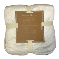 Cozy Adult Size Blanket mink sherpa white