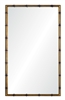 gold iron bamboo frame mirror