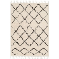 neutral area rug charcoal beige fringe organic