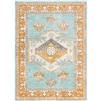 aqua area rug canvas back low pile
