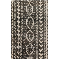 black khaki area rug hand knotted
