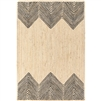 jute area rug natural black hand woven