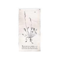 botanical wall tarp garden canvas cream