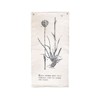 botanical wall tarp flower canvas cream