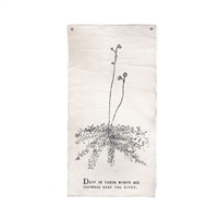 botanical wall tarp roots canvas cream