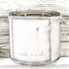 """Make a Wish"" Adorned Decorative Scented Soy Candle"
