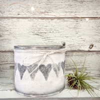 """Heart Banner"" Adorned Decorative Scented Soy Candle"