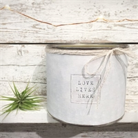 """Love Lives Here"" Adorned Decorative Scented Soy Candle"