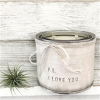 """P.S. I Love You"" Adorned Decorative Scented Soy Candle"