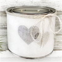 Two Hearts Adorned Decorative Scented Soy Candle - USA-Made Home D�cor | BSEID