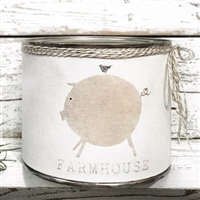 """Farmhouse Love"" Adorned Decorative Scented Soy Candle"