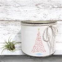 scented candle two wicks heart tree