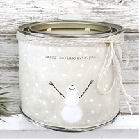 Happy Holidays To You Scented Soy Candle Snowman - USA-Made Home Décor | BSEID