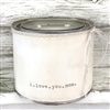 """I Love You Mom"" Adorned Decorative Scented Soy Candle"