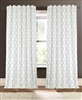 curtain panel drapery embroidery vertical design ivory