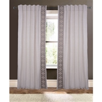 natural triangle trim curtain drapery panels