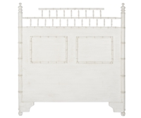 queen headboard bamboo style white finish