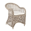 rattan arm chair all weather wicker cushion seat