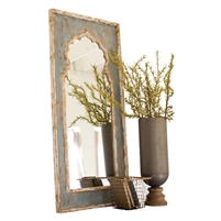 Painted Wooden Mirror - Unique Wall Hung D�cor by Kalalou