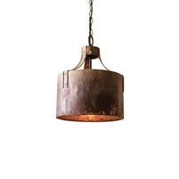 cylinder pendant light rustic distressed
