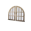 Kalalou mirror arched distressed wood window pane pair weathered