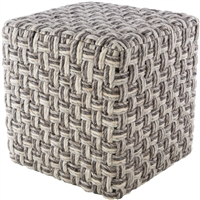 square cube pouf neutral dark light gray camel cream woven wool