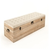 Tufted Top Storage Bench - Stockage - Limed Oak